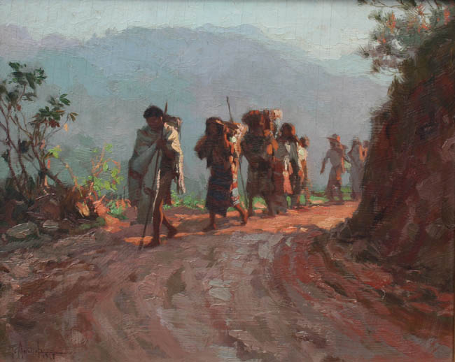 Fernando Amorsolo - Along the Mountain Trail