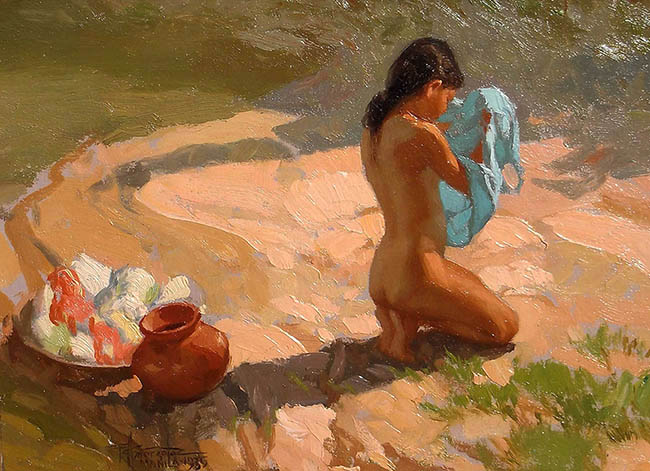 Fernando Amorsolo - Bather by the Water, 1935